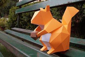 DIY Squirrel - 3d papercrafts