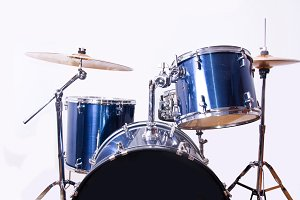 Drums on white background.