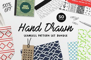 Hand Drawn Patterns Bundle - 50%OFF