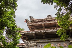 Roof of Long Son Pagoda, Nha Trang, Vietnam