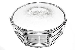 Drum snare on isolated background.