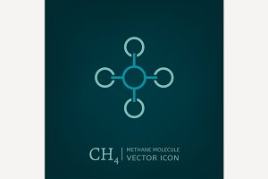 Methane Molecule Icon