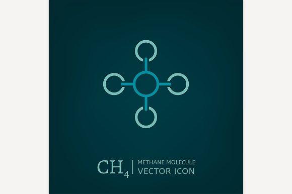 Methane Molecule Icon in Icons