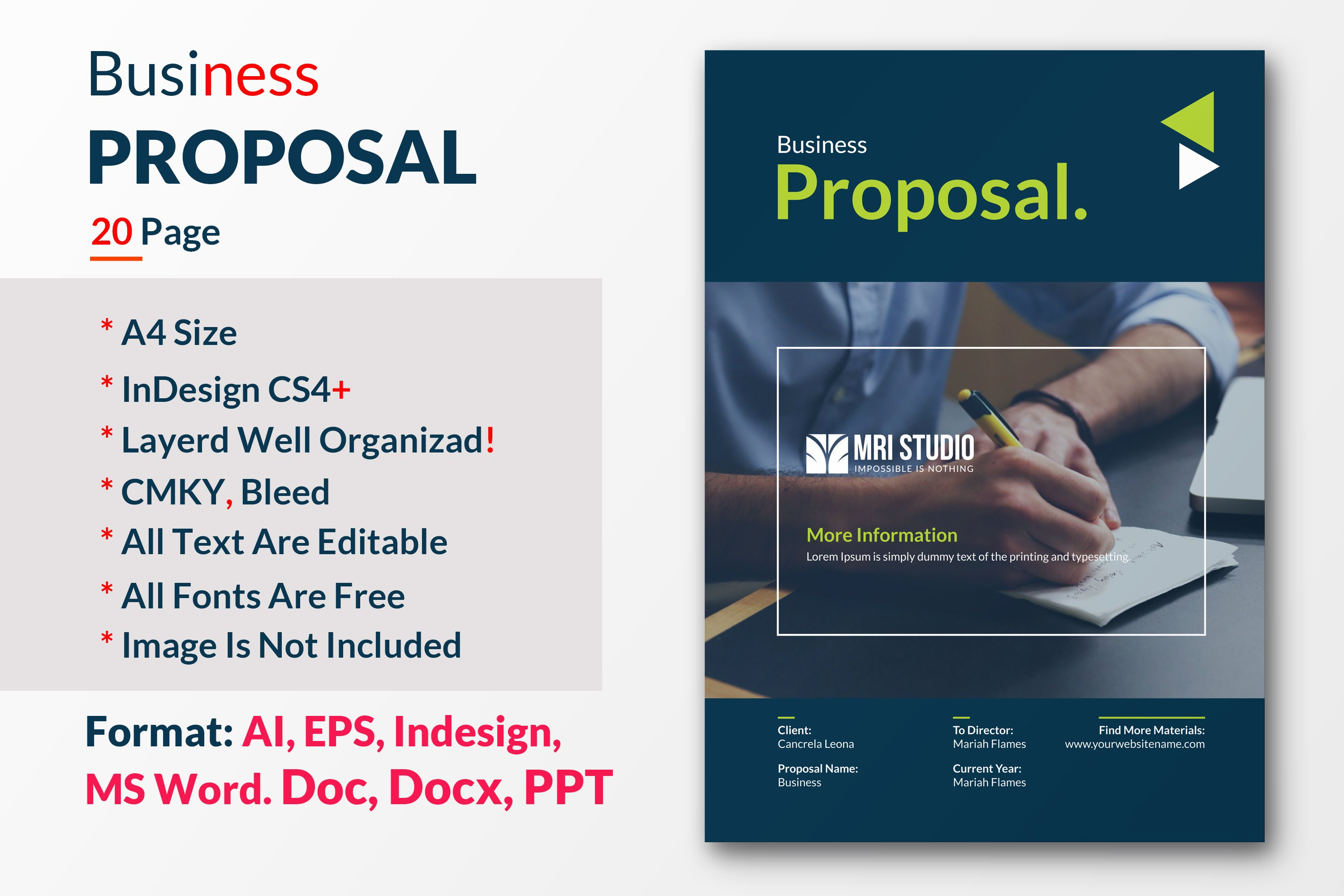 business proposal brochure templates creative market