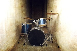 Drums music concept.