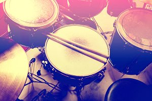 Drums music concept. Drum snare.