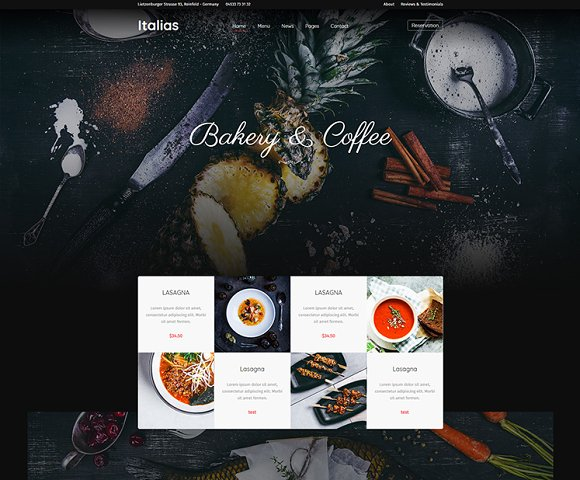 Italias Restaurant WordPress Theme