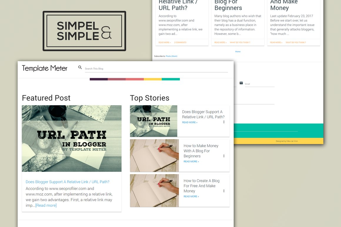 Sands - The Simple Blogger Template ~ HTML/CSS Themes ~ Creative ...