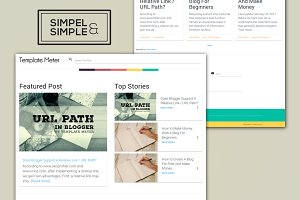 Sands - The Simple Blogger Template