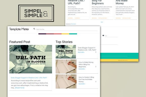Sands The Simple Blogger Template