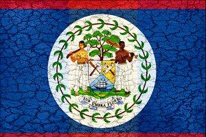 Belize Flag Grunge Style