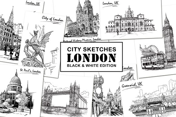 Sketching London Ink Edition