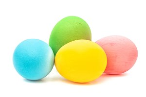 Easter eggs isolated on white JPG