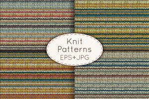 Knit seamless patterns set