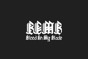 Blood On My Blade font