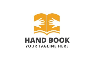 Hand Book Logo Template