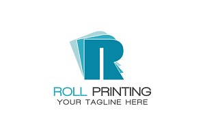 Roll Printing Logo Template