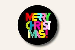 Merry Christmas vector text design 6