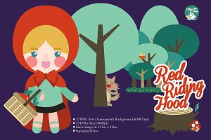 Digital Clipart Red Riding Hood