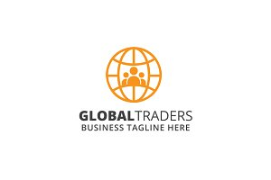 Global Traders Logo Template