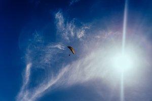 glider in the sky