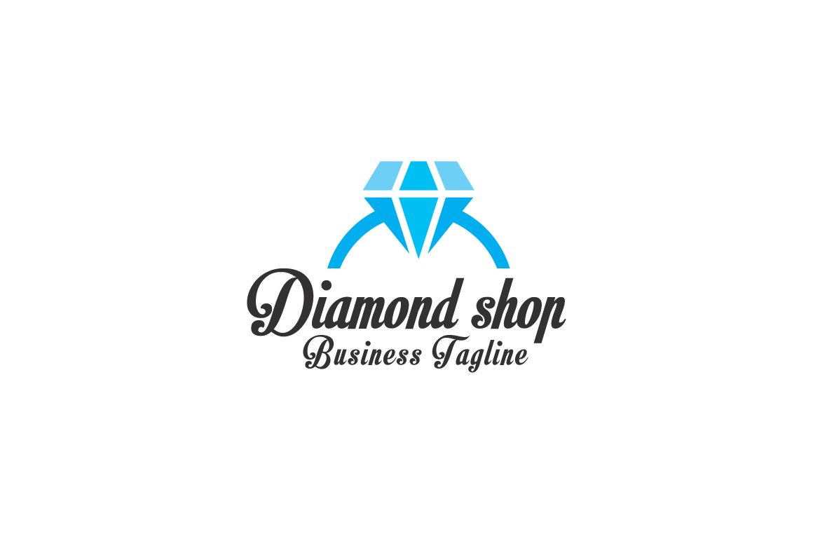 vector diamond colourbox stock logo