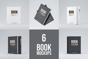 Set of 6 Book PSD Mockup