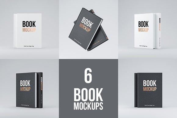Download Set of 6 Book PSD Mockup