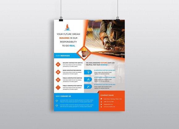 construction business flyer template