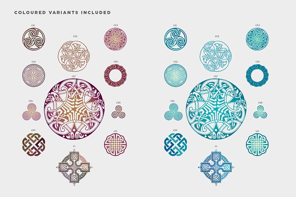 Celtic Patterns Vector Pack Graphics Creative Market