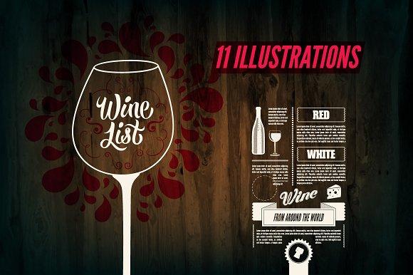 Wine List Calligraphic Design