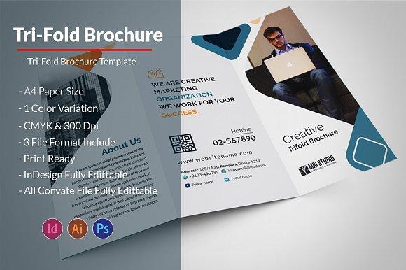Business Tri Fold Brochure Brochure Templates Creative Market