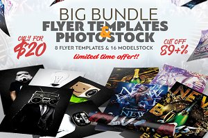 Big Bundle Flyer Temp. & Photo Stock