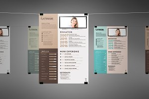Creative Swiss Resume Cv 3 colors