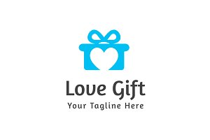 Love Gift Logo Template