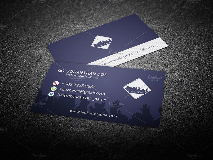 Musician Business Card ~ Business Card Templates ~ Creative Market
