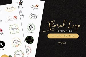 Floral Logo Templates Vol.1