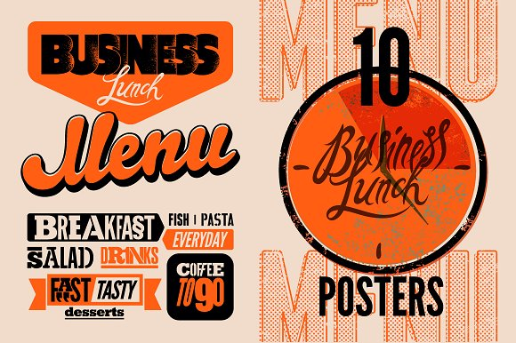 Business Lunch Typographic Design