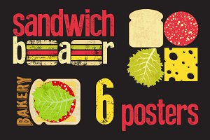 Sandwich Bar typographic poster.