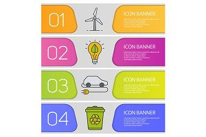 Eco technologies banners. Vector