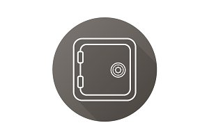 Bank vault icon. Vector