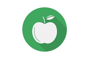 Green apple icon. Vector