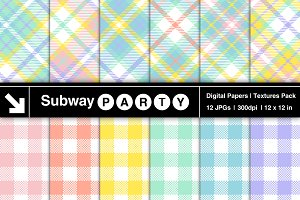 Easter Tartan Plaid Papers