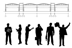 Business persons and drawing