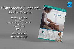 Chiropractic / Medical A4 flyer