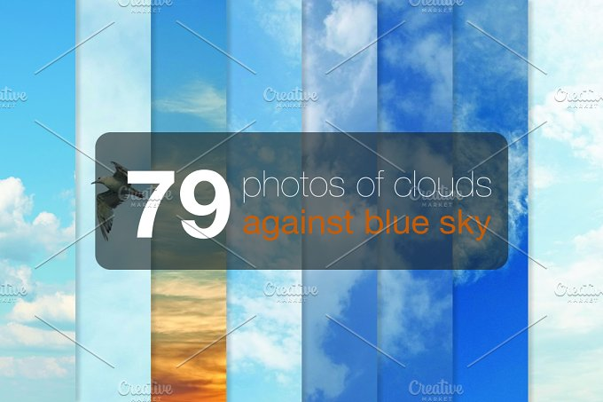 79 photos of clouds against-Graphicriver中文最全的素材分享平台