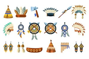 North American Indians Culture Set