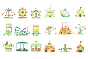 Amusement Park Elements Set