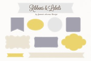 Ribbon & Label Shapes