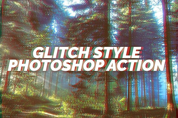 Glitch Style Photoshop Action